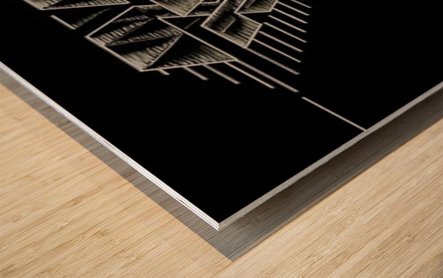 Monogram Art   Diamond AAA  2 Wood print