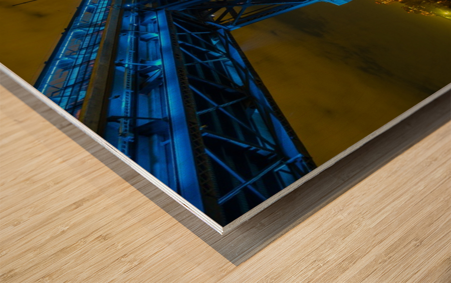 Blue Bridge Wood print