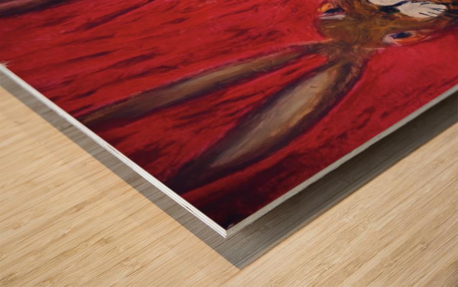 Red Rabbit Wood print