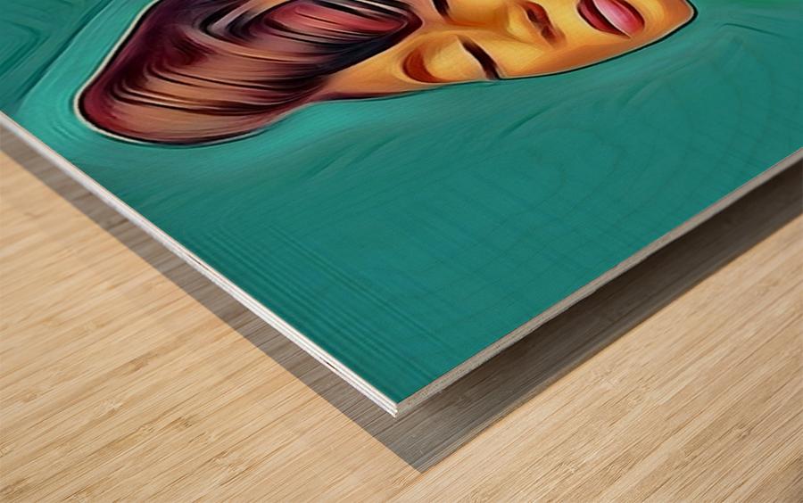 Saturday night Wood print