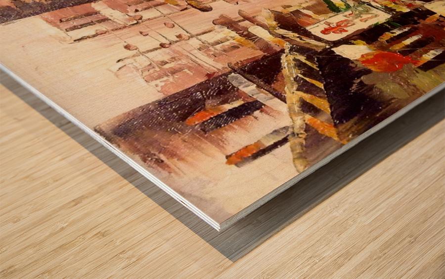 Hong Kong Soho Wood print