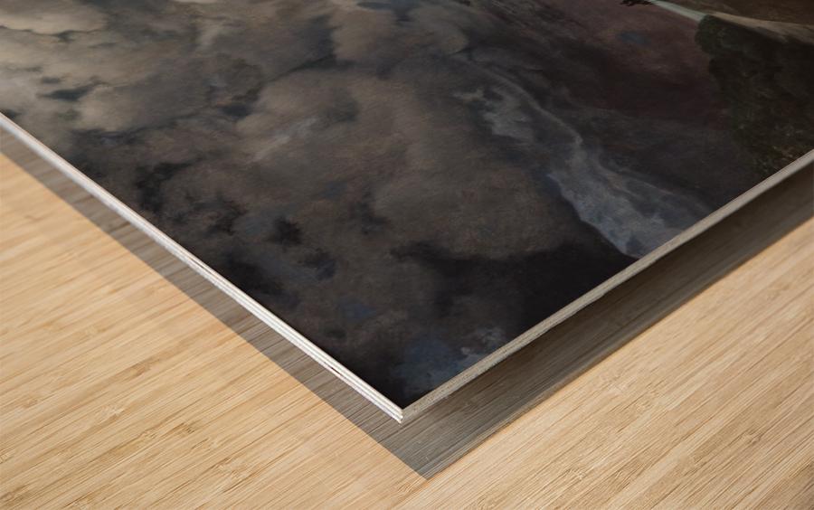Watching the sea Wood print
