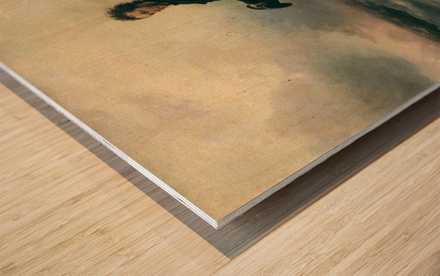 Pushkin and the sea Wood print