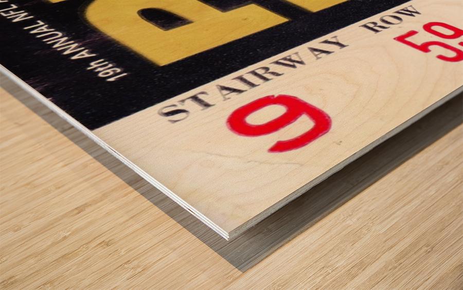 1969_National Football League_Pro Bowl_Los Angeles Coliseum_Row One Wood print