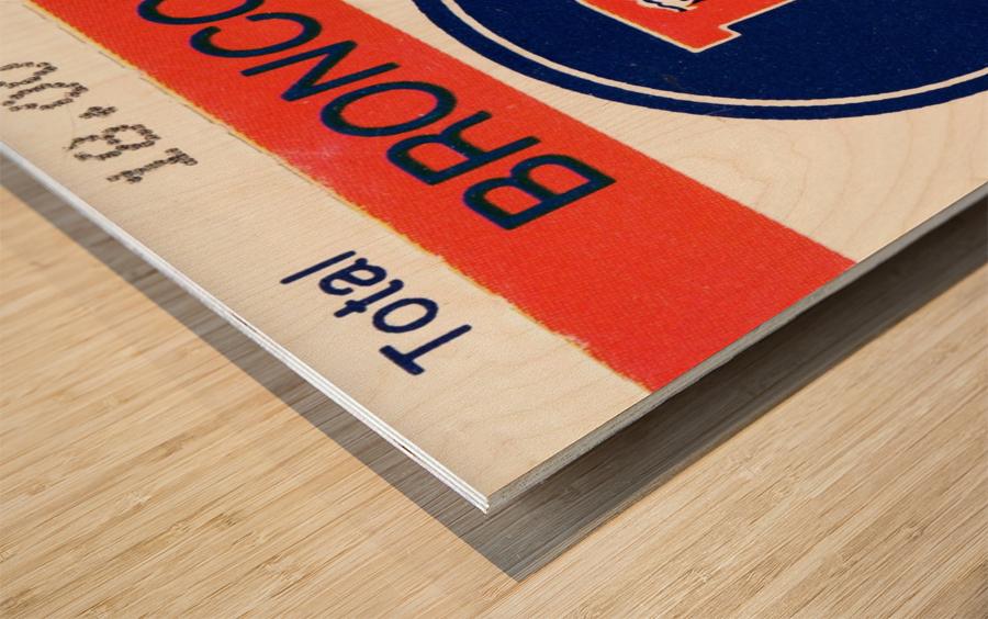 1983 Denver Broncos Football Ticket Stub  Wood print
