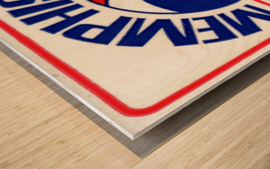 1971_American Basketball Association_Memphis Pros_Row One Brand Wood print