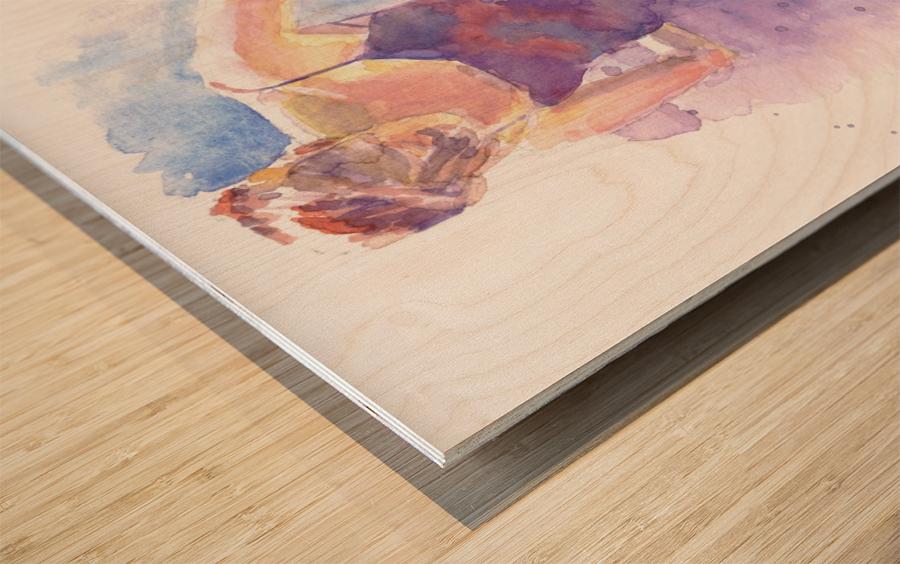 En Pointe Wood print