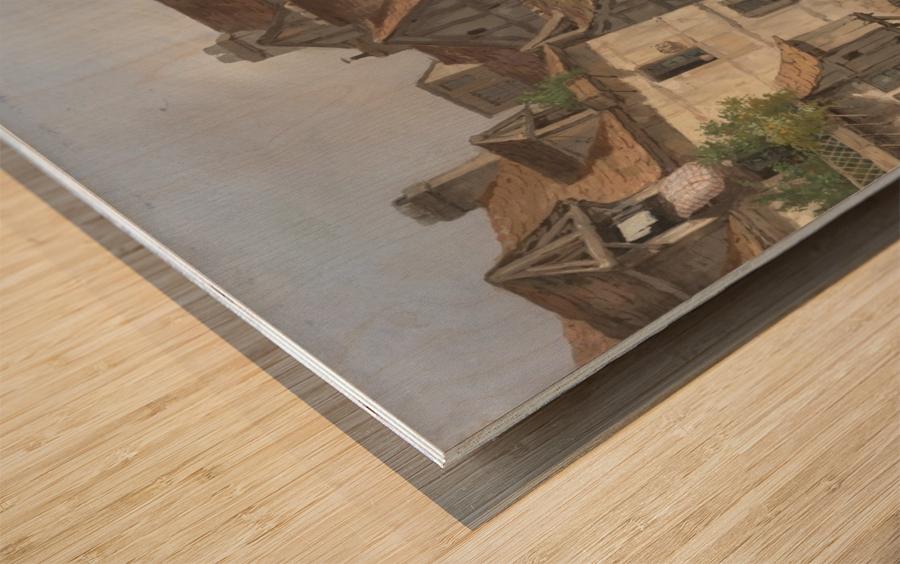 View of Rouen Wood print