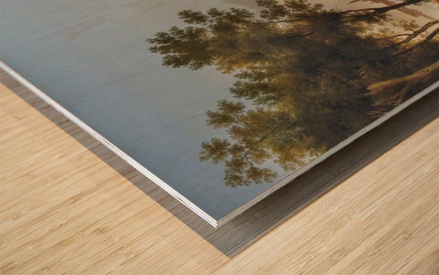 Vue de Venise depuis les Giardini Wood print