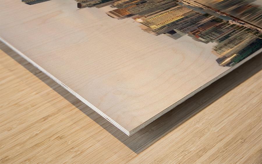 Downtown Reflection Wood print