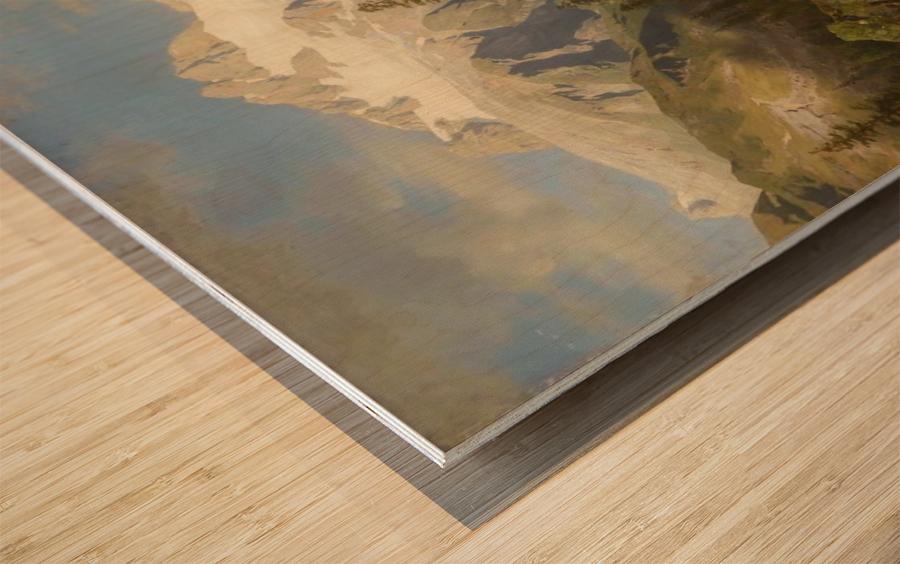 Eine Almwirtschaft Wood print