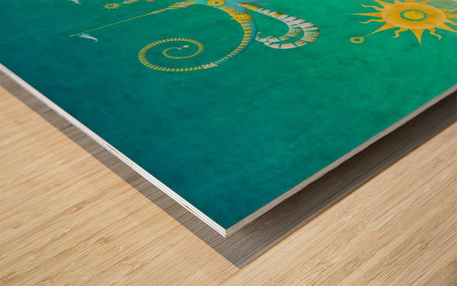 Castellini Elephantini Azure Wood print