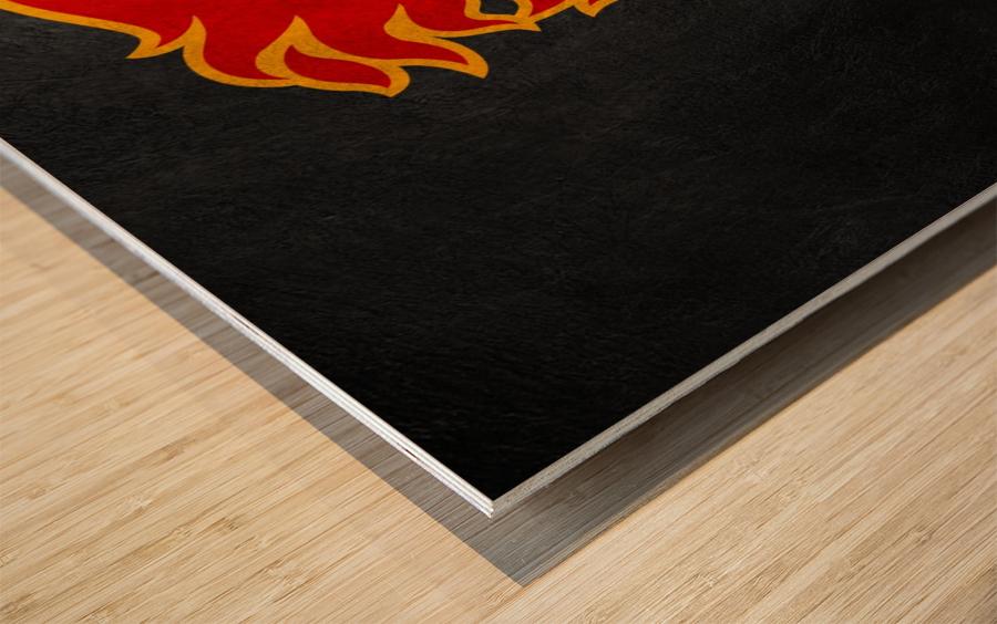 Calgary Flames Wood print