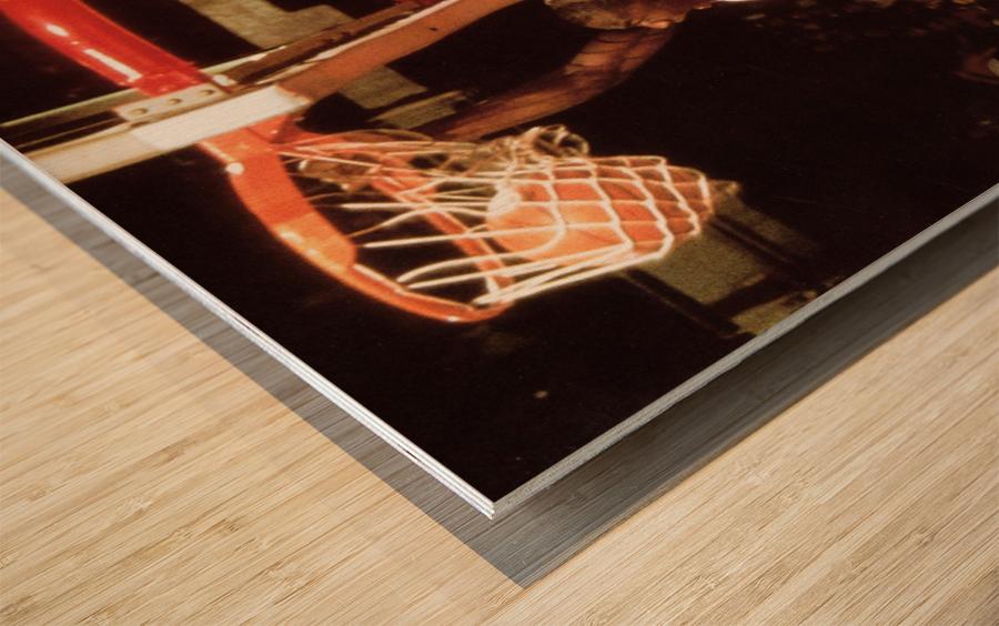 1985 Michael Jordan Dunk Poster Bulls 20th Anniversary Wood print