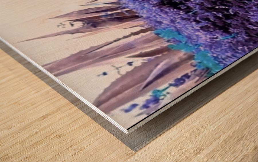 Dancing Violet  Wood print