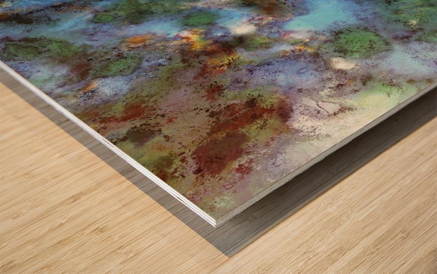 Audible water Wood print