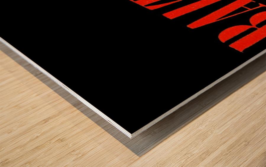 baltimore orioles retro remix row one Wood print