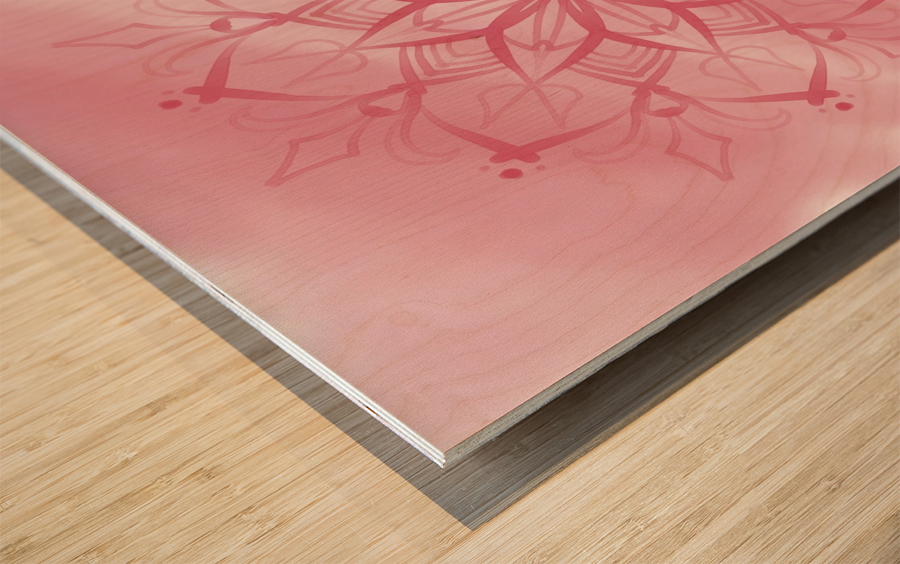 pink mandala Wood print