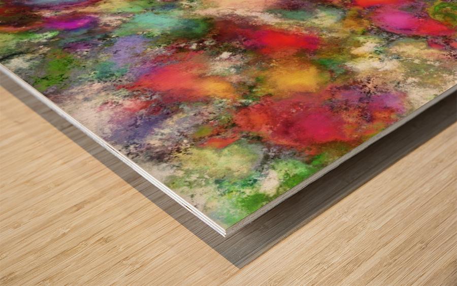 Falling petals Wood print