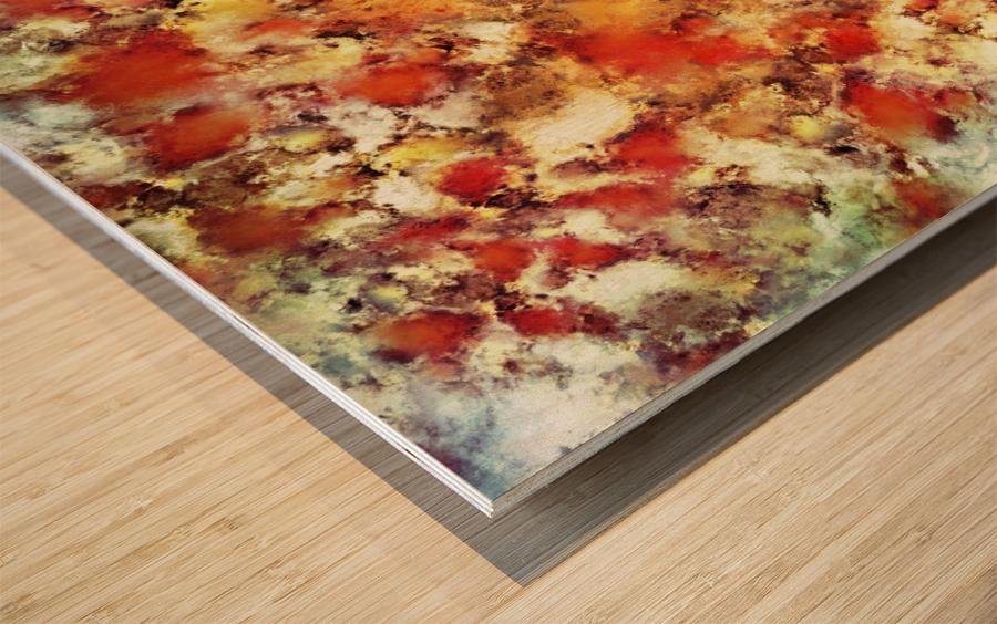 Hot water Wood print