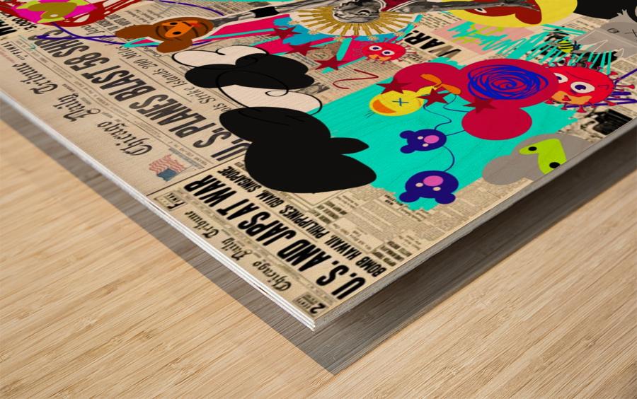 Black Jesus Wood print