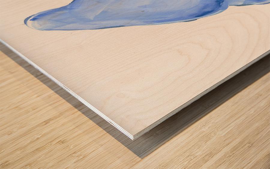 Blueberry Ice Cream Wood print