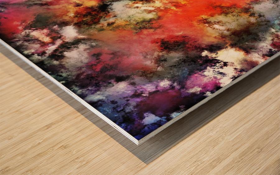 See the flames Wood print