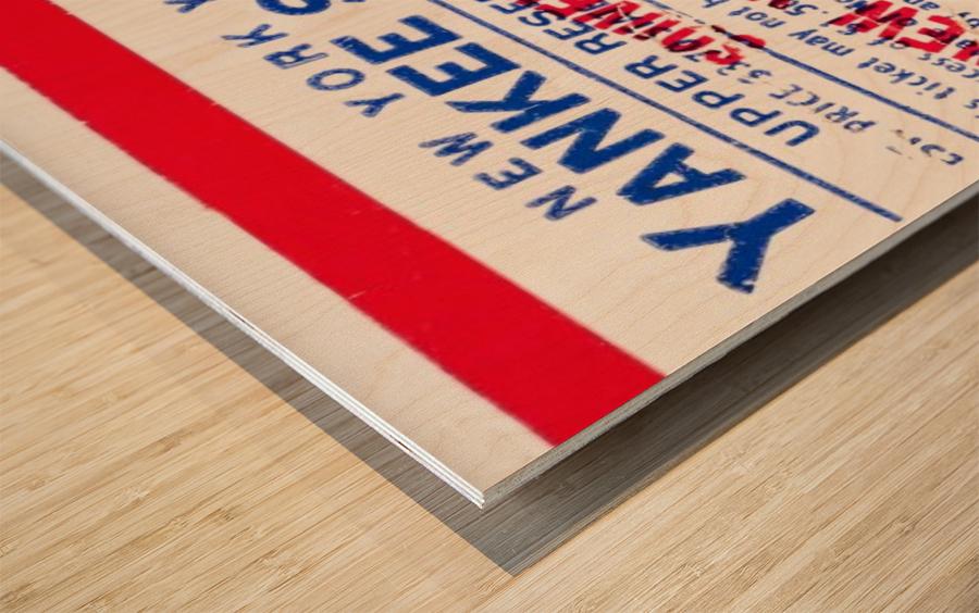 1976 new york yankees yankee stadium ticket stub art poster Wood print