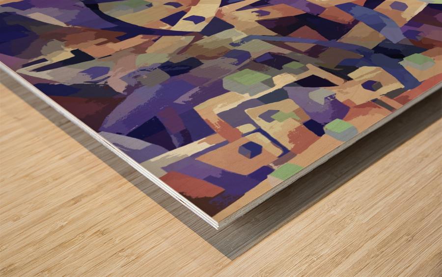 Seamless Geometric Vivid Abstract Wood print