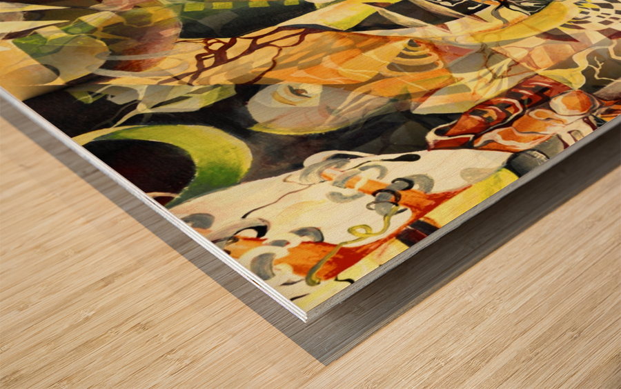 Pop Currealism Magical Utopia Wood print