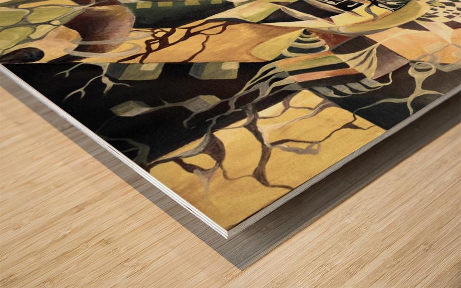 Pop Currealism Contemporary Utopia Wood print