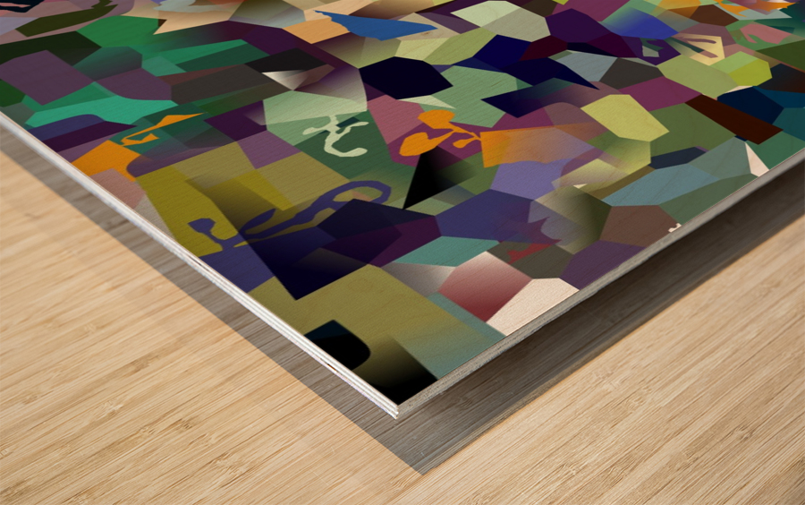 corporate elementals Wood print