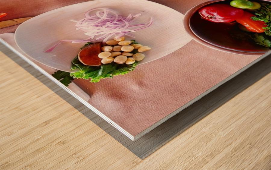 Ceviche  Wood print