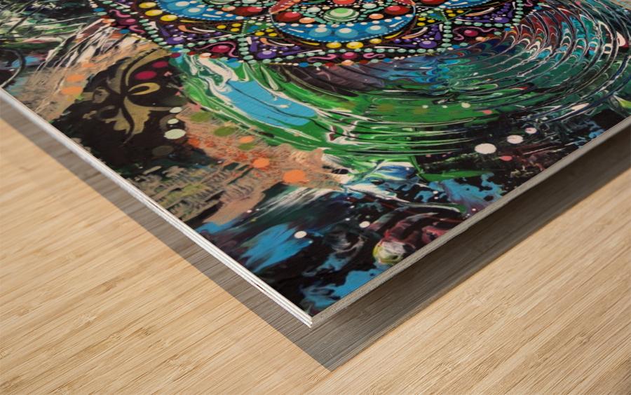 Harmonie en vert Wood print