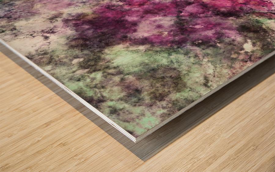 The quiet purple clouds Wood print