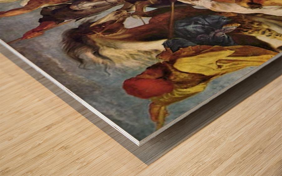 Hunting by Rubens Wood print