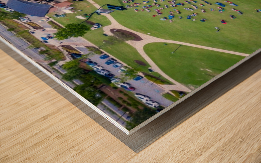 Lakeside High Class of 2020   Graduation Aerial View 0728 05 30 20 Wood print