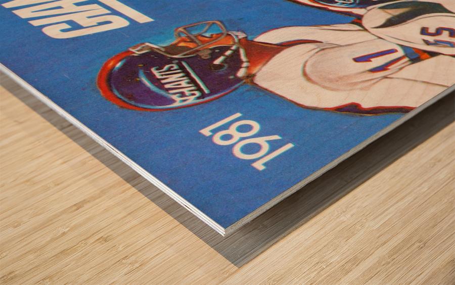 1981 new york giants Wood print