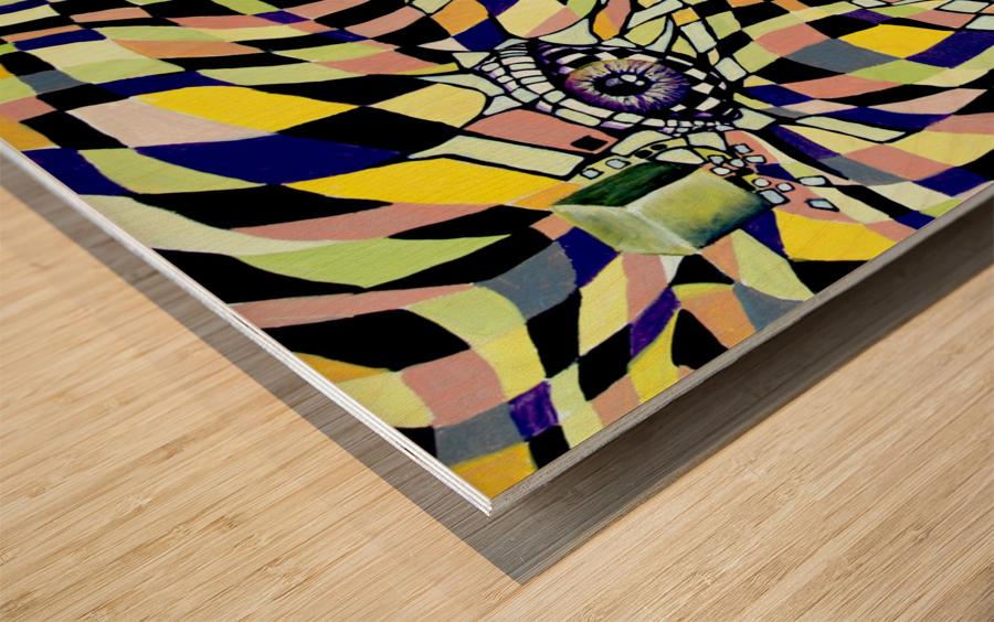 All Seeing Eye in Pop Surrealism  Wood print
