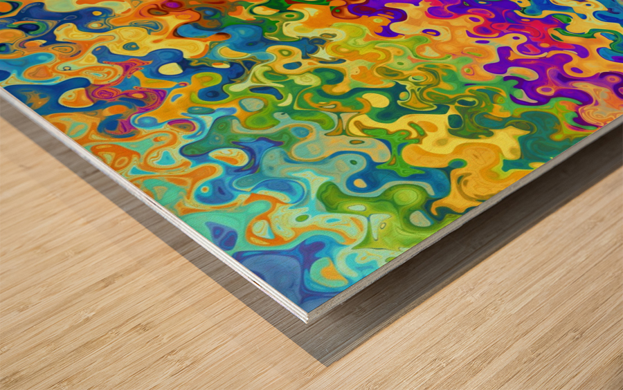 Colorful Abstraction Wood print