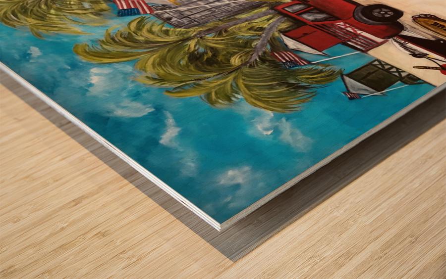 Siesta_beach_covid_shutdown Wood print
