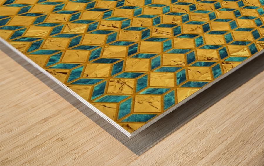 Geometric  XXXXX  Wood print