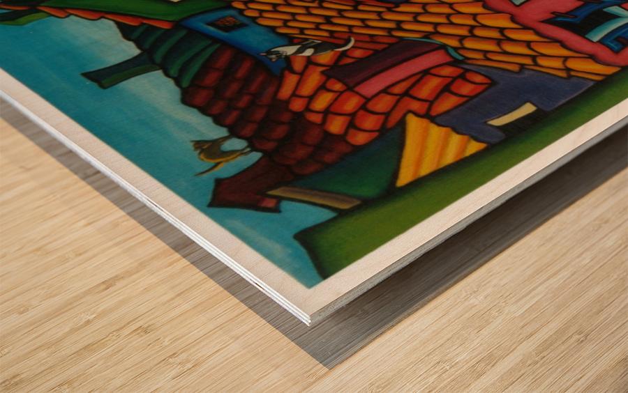 Rooftop Roamers Wood print