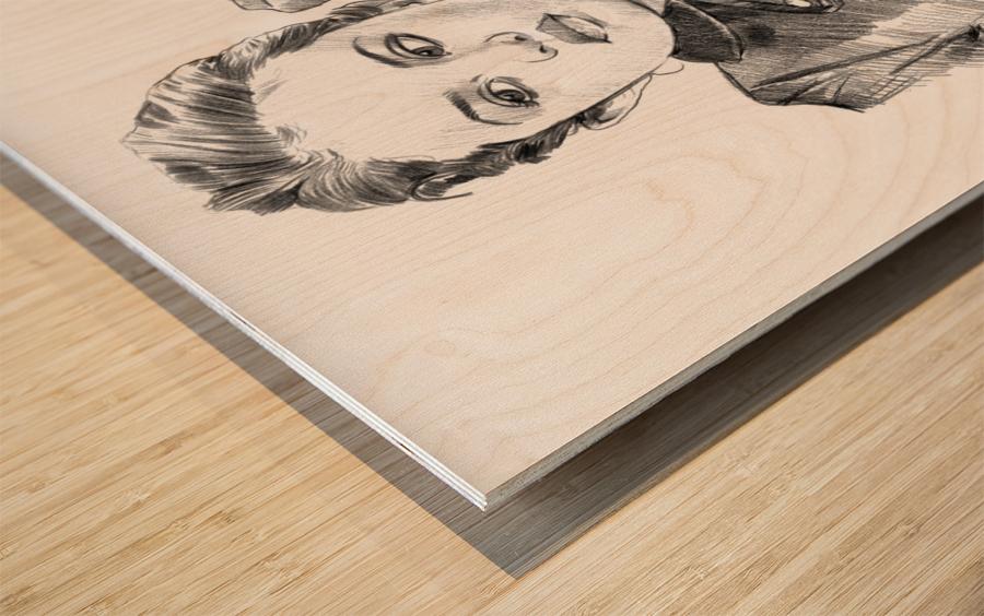Selena Gomez - Celebrity Pencil Art Impression sur bois