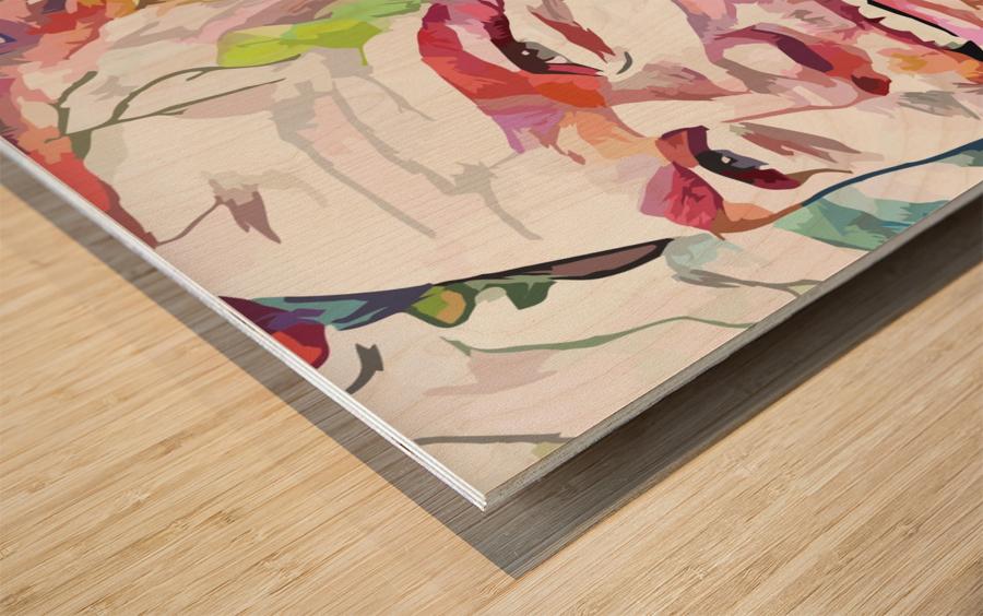 Chris Pratt - Celebrity Abstract Art Impression sur bois