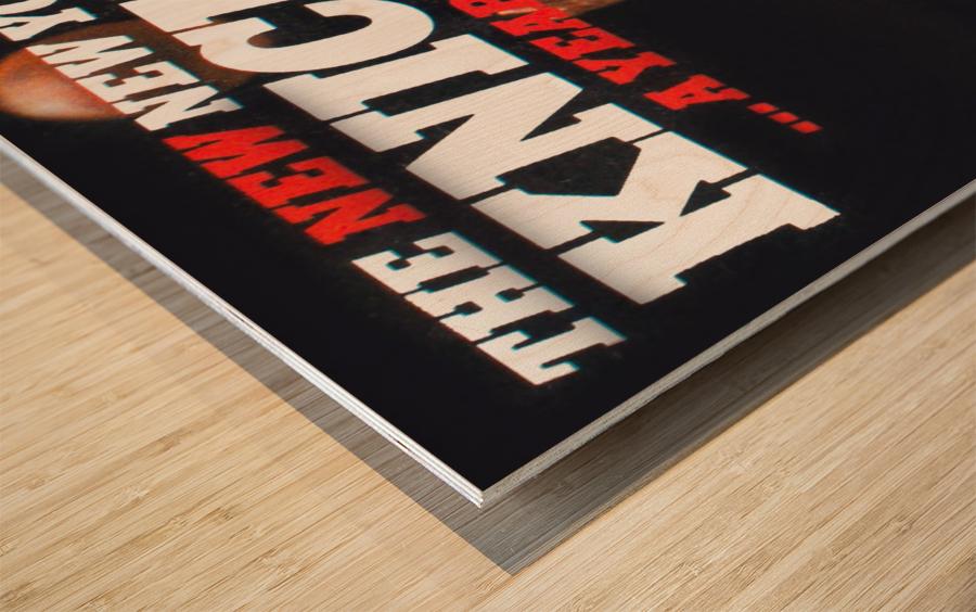 1980 new york knicks poster bill cartwright cedric maxwell Wood print