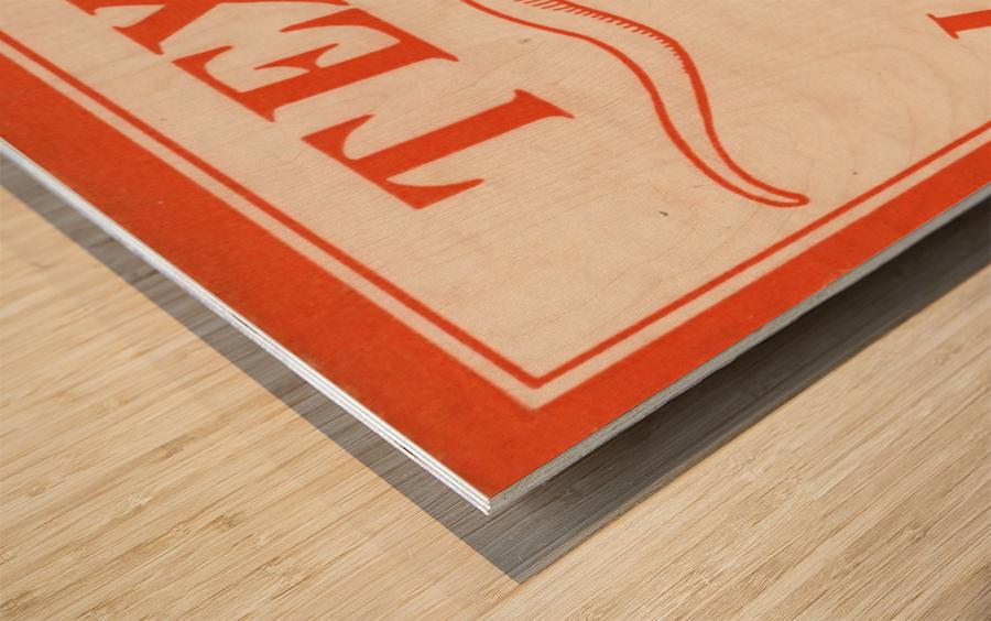 vintage texas longhorns metal sign best college signs Wood print