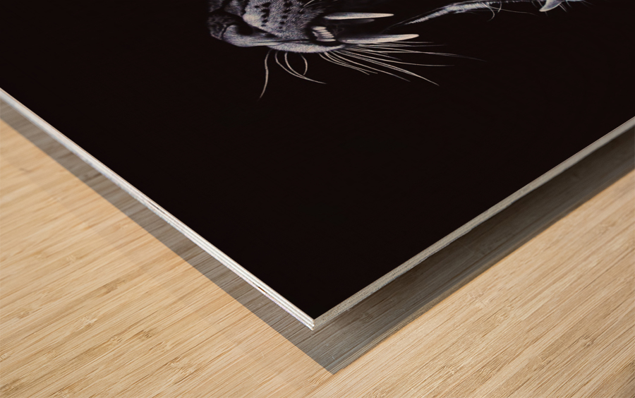 OCELOT_COLOR PENCIL_64.40X54.20 Impression sur bois