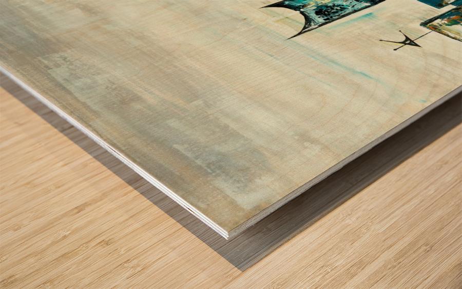 Uptown V Wood print