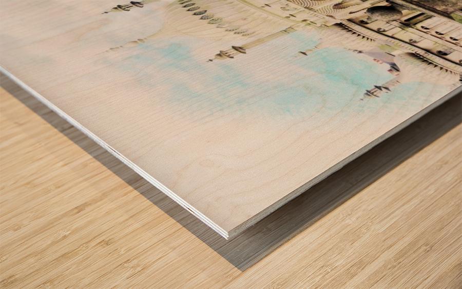 Brighton Pavilion Street View Wood print